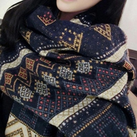 Ericdress Geometric Pattern Jacquard Winter Women's Scarf