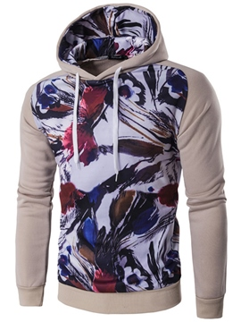 Ericdress Color Block Print Pullover Men's Hoodie
