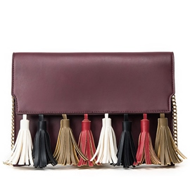 Ericdress Color Block Tassel Shoulder Bag