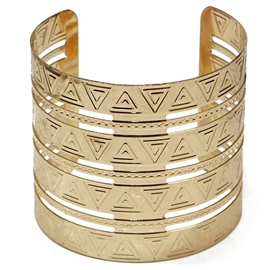 Ericdress Golden Plated Opening Wide Bracelet