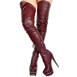 Ericdress Brown Ultra-High Heel Over-the-Knee Boots