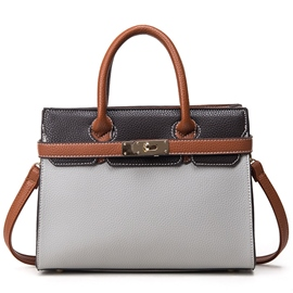 Ericdress Color Block Platinum Handbag