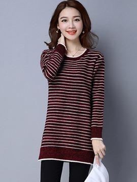Ericdress Corss Stripe Casual Knitwear