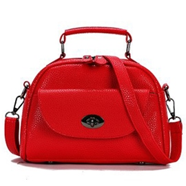 Ericdress Solid Color Thread Lock Decorated Handbag