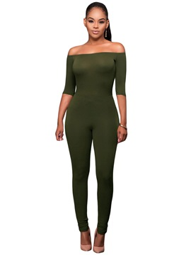 Ericdress Strapless Skinny Jumpsuits Pants