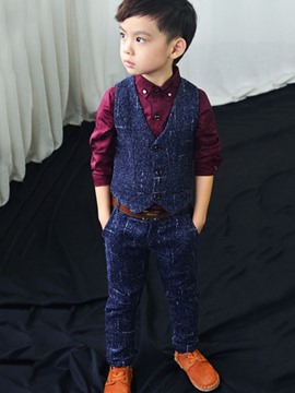 Ericdress British Style 3-Pcs Boys Suit