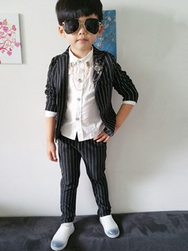 Ericdress Stripe Gentlemanly 2-Pcs Boys Suit