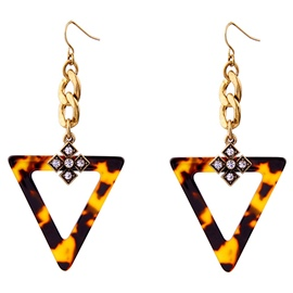 Ericdress Triangle Leopard Design Resin Earrings