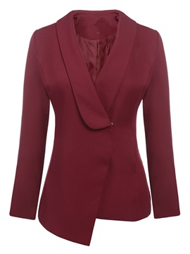 Ericdress Solid Color Hiden-Button Slim Blazer