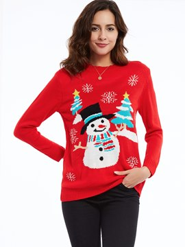 Ericdress Pullover Christmas Cartoon Knitwear