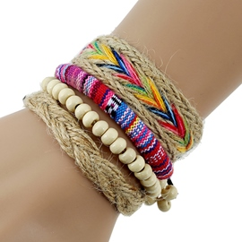 Ericdress Multilayer Mixed Color Rope Woven Bracelet