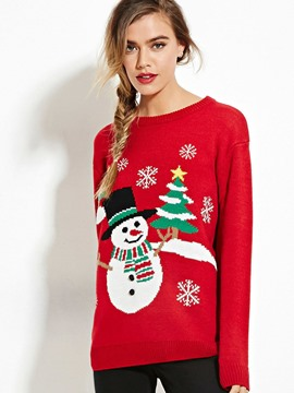 Ericdress Cristmas Cartoon Pullover Knitwear