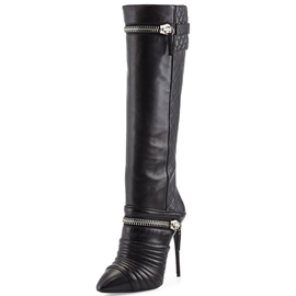 Ericdress Pointed Toe Stiletto Heel Knee High Boots