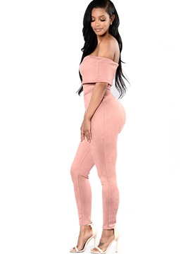 Ericdress Backless Strapless Skinny Jumpsuits Pants