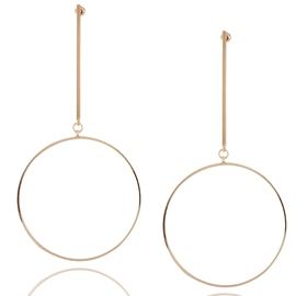 Ericdress European Style Big Circle Alloy Pendant Earrings