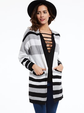 Ericdress Striped Cardigan Casual Knitwear