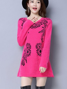 Ericdress Embroidered Ladylike Pullover Knitwear
