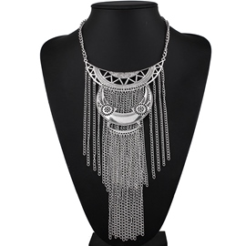 Ericdress Multilayer Long Tassels Necklace