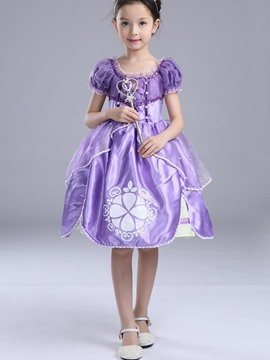 Ericdress Asym Printed Princess Girls Costume