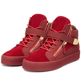 Ericdress Red Round Toe High-Cut Upper Sneakers