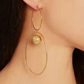 Ericdress Personality Two Circle Alloy Earrings