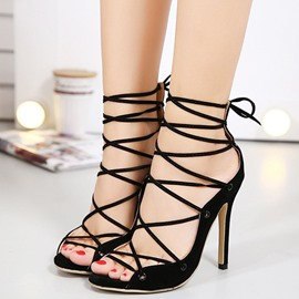 Ericdress Roman Cut Out Open Toe Stiletto Sandals