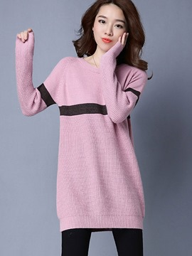 Ericdress Pullover Line Detail Mid-Length Knitwear