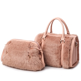 Ericdress Lovely Solid Color Fuzzy Handbags(2 Bags)