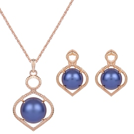 Ericdress Blue Bead Design Alloy Two-Pieces Jewelry Set