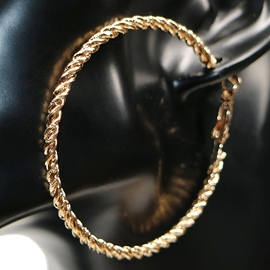 Ericdress Simple Golden & Silver Hoop Earrings