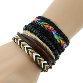 Ericdress Multilayer Colorful Rope Woven Bracelet