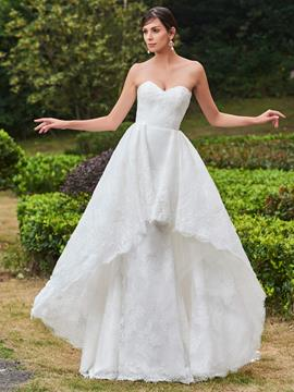 Ericdress Charming Sweetheart Sheath Lace Wedding Dress