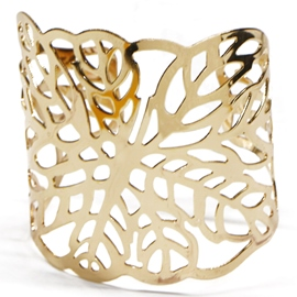 Ericdress Fashion Gold Hollow Leaves Design Bracelet