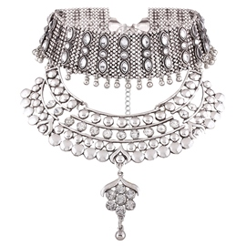 Ericdress Ethnic Style Alloy Beading Diamante Necklace
