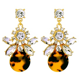 Ericdress Personality Leopard Design Diamante Earrings