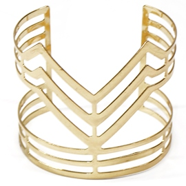 Ericdress V-Shaped Design Golden Plated Bracelet