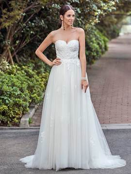 Ericdress Classic Sweetheart Appliques A Line Wedding Dress