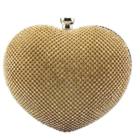 Ericdress Romantic Heart Shape Diamante Evening Clutch