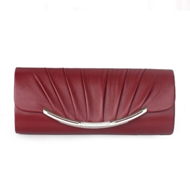Ericdress All Match Wrinkle Decorated PU Evening Clutch