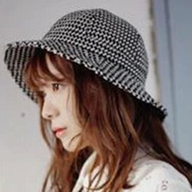 Ericdress All-Macthed Houndstooth Design Bucket Hat