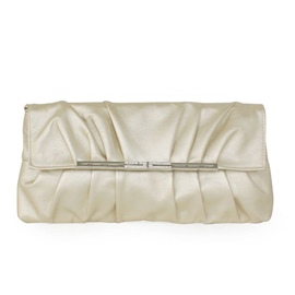 Ericdress Graceful Wrinkle Decorated PU Evening Clutch