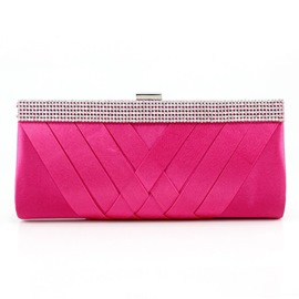Ericdress Rose Quilted Lining Rhinestone Evening Clutch