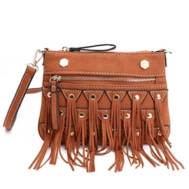 Ericdress Vintage Geometric Tassel Crossbody Bag