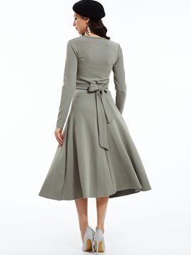 Ericdress V-Neck T-shirt And Expansion Skirt Suit