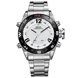 Ericdress Black Case Design White Surface Men's Watch