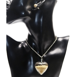 Ericdress Heart-Shaped Yellow Quicksand Design Jewelry Set