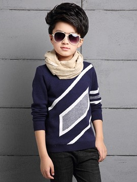 Ericdress Geometric Pattern Boys Sweater