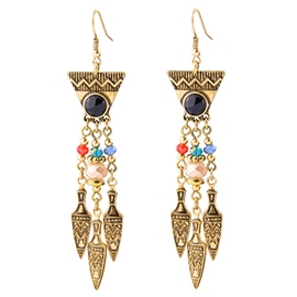 Ericdress Punk Style Metal Rivets Pendant Earrings