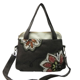 Ericdress Casual Ethnic Flower Embroidery Handbag