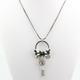 Ericdress Diamante Key Pendant Long Snake Chain